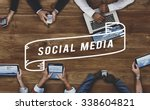 social media network web online ... | Shutterstock . vector #338604821