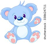 illustration of cute toy bear  | Shutterstock .eps vector #338624711