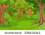 illustration of amazing forest... | Shutterstock .eps vector #338626361