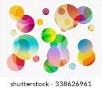 abstract circles   | Shutterstock . vector #338626961