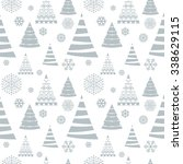 christmas seamless pattern.  | Shutterstock .eps vector #338629115