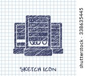 server cabinets vector sketch...