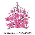 japanese plum blossom | Shutterstock .eps vector #338640875