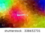 multicolor dark geometric... | Shutterstock .eps vector #338652731