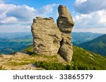 Mountains landscape with rocks - stock photo