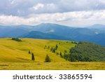 Mountains landscape in Carpathians - stock photo