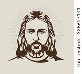 face of jesus hand drawn art