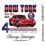 vector vintage sport racing car. | Shutterstock .eps vector #338658467