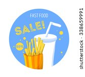 fast food icon. french fries... | Shutterstock . vector #338659991
