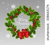 christmas wreath | Shutterstock .eps vector #338663174