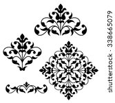 set of ornamental floral... | Shutterstock .eps vector #338665079