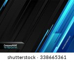 dark vector background with... | Shutterstock .eps vector #338665361
