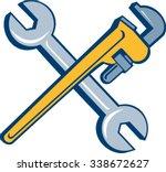 illustration of a plumber's... | Shutterstock .eps vector #338672627
