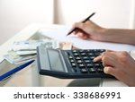 accounting concept.analyzing... | Shutterstock . vector #338686991