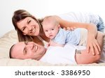 mom dad and the new born baby...   Shutterstock . vector #3386950