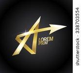 letter a like a gold star ...   Shutterstock .eps vector #338703554