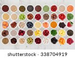 large super food selection in... | Shutterstock . vector #338704919