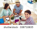 young creative team working... | Shutterstock . vector #338710835
