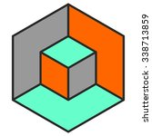 Vasarely Cube In Three Colors ...