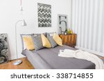 image of matrimonial bed with... | Shutterstock . vector #338714855