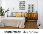 picture of stylish cozy bedroom ... | Shutterstock . vector #338714867