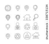 set of web icons for website... | Shutterstock .eps vector #338715134