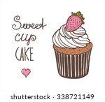 vector illustration of cupcake... | Shutterstock .eps vector #338721149