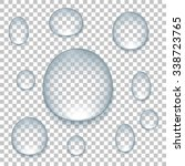 drops on isolated background ... | Shutterstock . vector #338723765