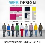 web design network website...   Shutterstock . vector #338725151