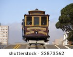 cable car over hill | Shutterstock . vector #33873562