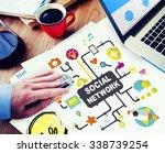 social media social networking... | Shutterstock . vector #338739254