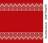 christmas sweater design.... | Shutterstock .eps vector #338754695