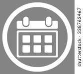 calendar vector icon. style is... | Shutterstock .eps vector #338763467