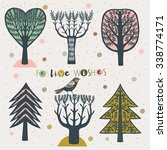 festive wishes. print design | Shutterstock .eps vector #338774171