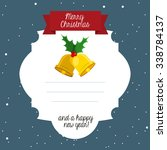 happy merry christmas design ... | Shutterstock .eps vector #338784137