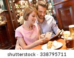 couple of tourists in...   Shutterstock . vector #338795711