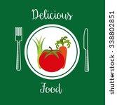 healthy vegetarian food design  ... | Shutterstock .eps vector #338802851