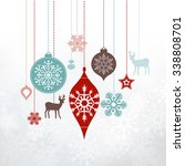 christmas decorations ... | Shutterstock .eps vector #338808701
