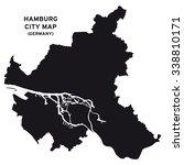 hamburg city map vector | Shutterstock .eps vector #338810171