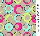 1960s inspired  seamless... | Shutterstock .eps vector #338812151