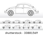 vector of different cars in... | Shutterstock .eps vector #33881569