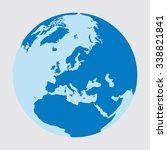 planet earth as a circle where...   Shutterstock .eps vector #338821841