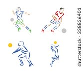 set of fitness icons with... | Shutterstock .eps vector #338826401