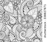doodle seamless background in... | Shutterstock .eps vector #338827871