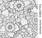 Doodle Seamless Background In...