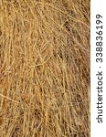Image Of Dried Yellow Hay...
