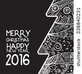 creative happy new year 2016... | Shutterstock .eps vector #338840231