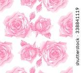 light roses pattern 3 | Shutterstock . vector #338841119