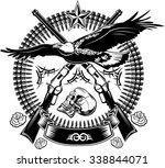 eagle and rifle | Shutterstock .eps vector #338844071