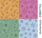 russian xmas pattern set | Shutterstock .eps vector #338847761